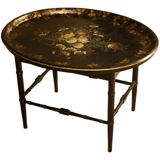 English regency tole tray table english terrace and for English terrace