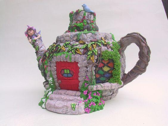 Fairy House Teapot By Birdy Heywood