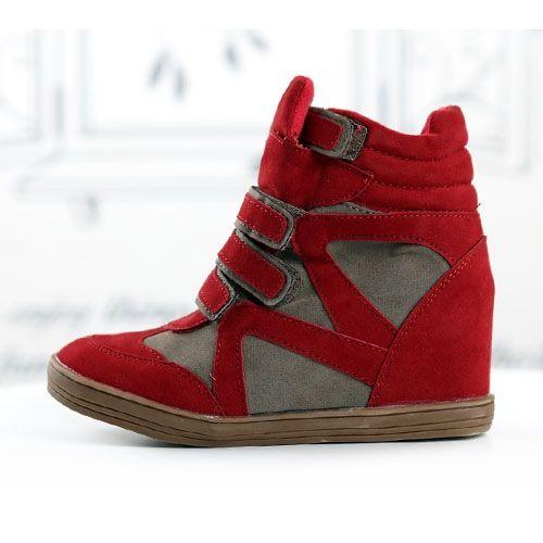 basket femme montante daim marron rouge scratch boyish high top sneakers fashion mode 2012 2013 ref34.jpg