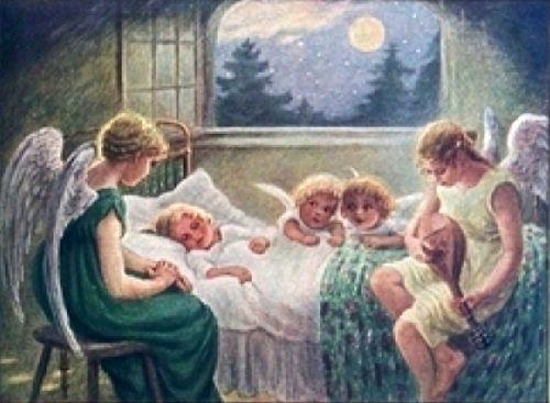 """""""Angels"""" - by Franziska Schenkel,  (20th Century, German):"""