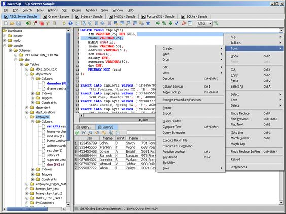 RazorSQL is a SQL database query tool, SQL editor, database - oracle pl sql developer resume sample