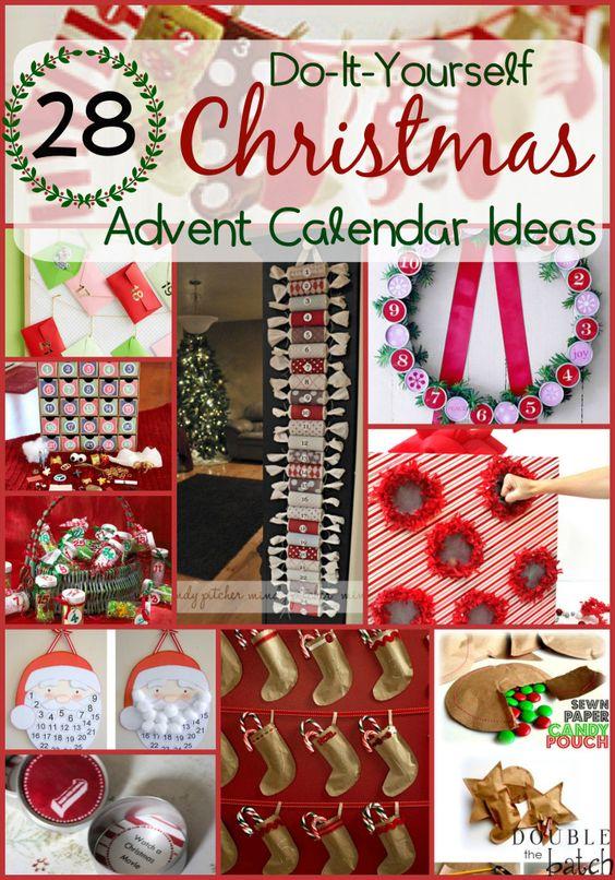 DIY Christmas Advent Calendar Ideas Crafting, Toys and Advent calendar