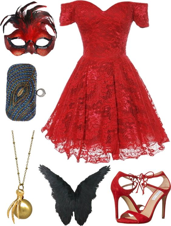 Halloween Masquerade Party Outfit