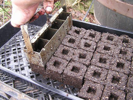Making soil blocks for seed starting gardening the for Soil block maker