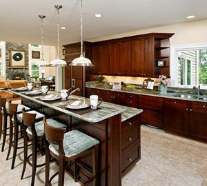 Northern virginia custom home builders and home builder for Two level kitchen island