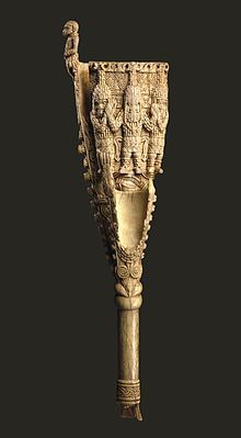 This is the oldest surviving African ivory sculpture. The Oba (or king) used it in a ceremony to drive away evil spirits.
