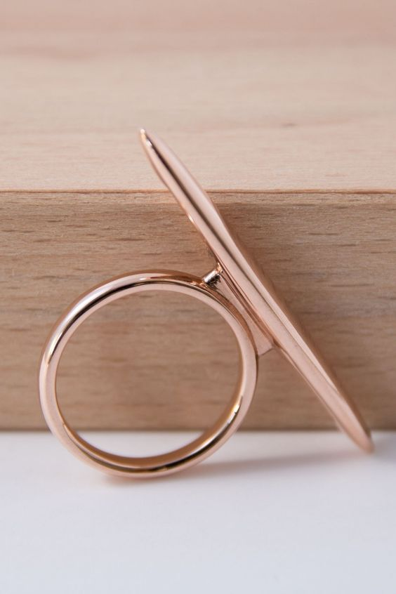 """Ring """"SOFTLINE"""" - rose gold plated finition"""