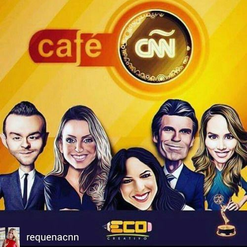 @Regrann from @requenacnn - Mil Gracias a @eco.creativo por esta caricatura del #teamcafecnn @cnnee @samuelcnn…