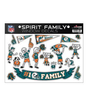Let everyone know where the family's allegiances lie with this spirited set of decals. Featuring 25 repositionable vinyl decals, including team logos, banners, flags and more, they're perfect for adding a touch of sporty flair to car windows and other smooth, glossy surfaces.