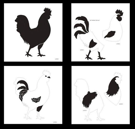 Capas de gallo Arte Stencil - STCL778 - por StudioR12