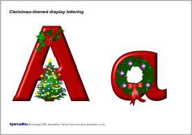 Christmas-themed display lettering (SB1884) - SparkleBox