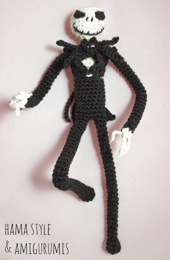 Amigurumi Halloween Patrones : Hama Style & Amigurumis: Jack Skeleton Amigurumi - Patron ...