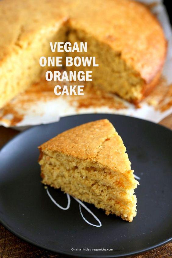 Vegetarian orange cake recipe