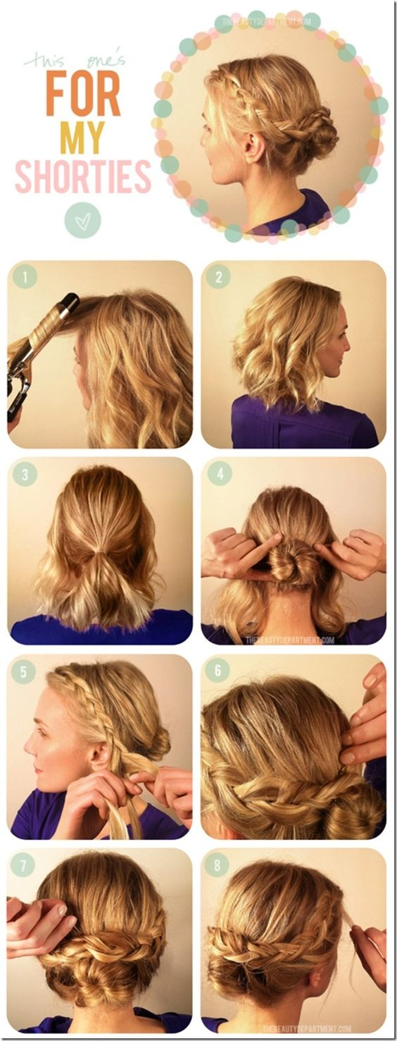 Stupendous Short Hairstyles Updo And Short Hair Updo On Pinterest Short Hairstyles Gunalazisus