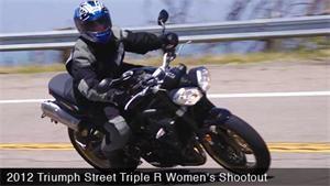 2012 Triumph Street Triple R Womens Shootout Video