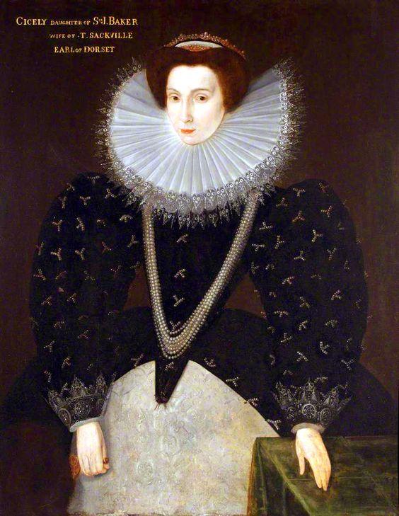 Portrait de Cicely, Lady Buckhurst, comtesse de Dorset, par Hieronymus Custodis