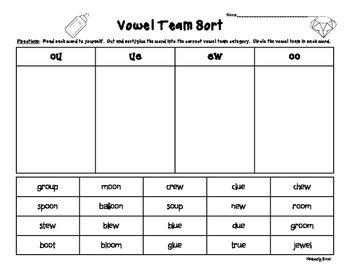 Worksheets Vowel Teams Worksheets vowel teams worksheets sharebrowse team delibertad