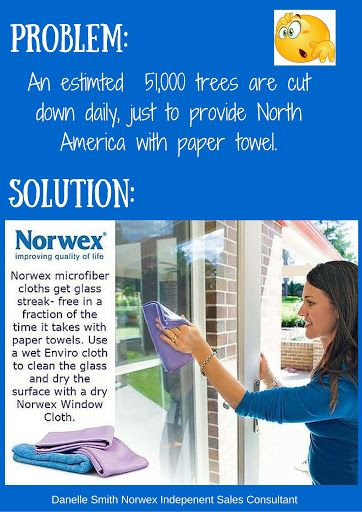 Norwex is a great alternative to make small changes that will make a HUGE difference! Use the Enviro cloth wet to wash windows and mirrors, follow with a dry polishing cloth to leave surface shiny and streak free!