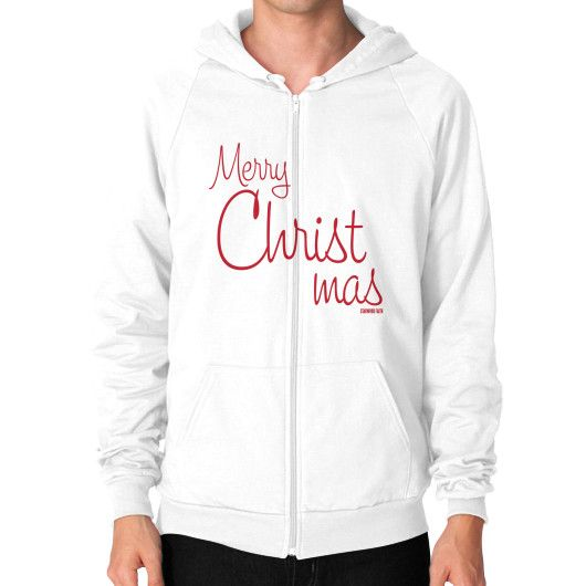 Merry Christmas Men's Zip Hoodie