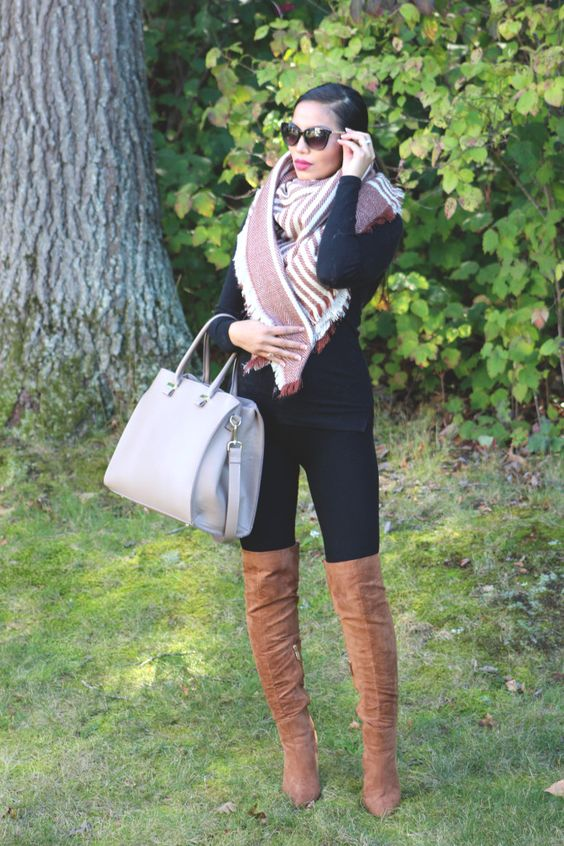 Fall outfit/ Thigh High boots/ www.boosracic.com IG: @boosracic: