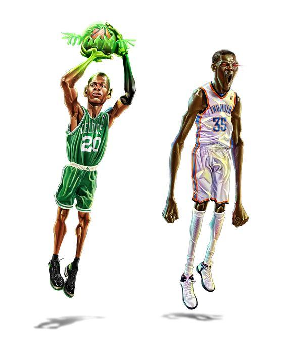 NBA stars 2 by A-BB.deviantart.com on @deviantART