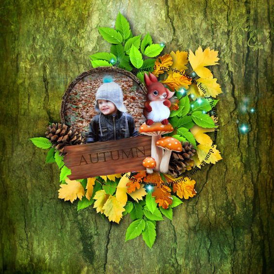 """Sweet-Chick Scrap and Co My page with """"L'histoire d'une vie dans les bois"""" by Kitty Scrap   kit and addon"""