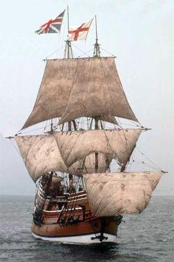 The Mayflower II at Sail