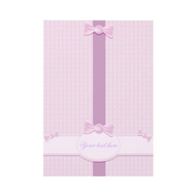 Invitation with pink background by MilaCroft