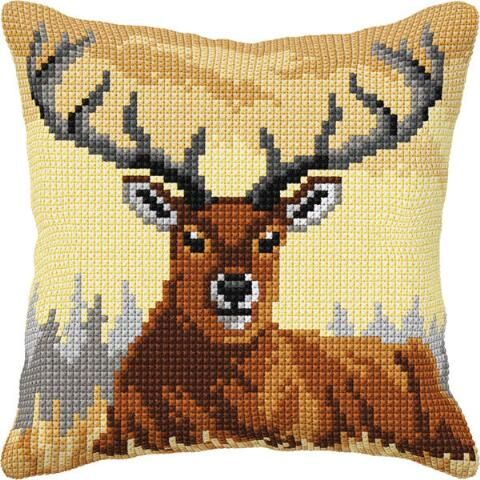 Stag Needlecraft Kits Large Orchidea Latch Hook Cushion Kit