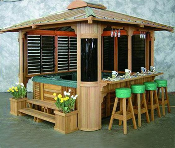 Image detail for spa gazebo garden gazebo gazebo spa for Hot tub shelter plans
