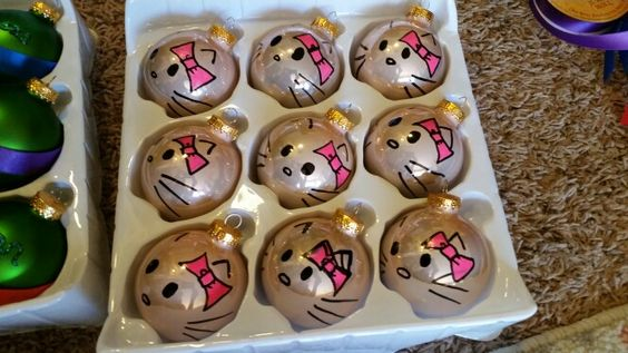 DIY Hello Kitty Ornaments for the girls of the family