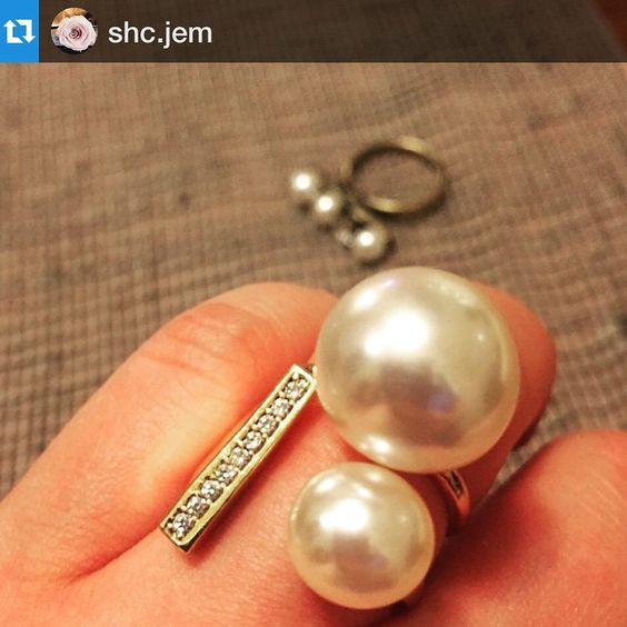 """""""#Repost @shc.jem with @repostapp.#pearl#ring#jewelry#jotd#accentring#accessory#chicring#gold#instajewelry#trend#fashion#gift#instagood#instafashion#daily#wildcatjewelry#와일드켓부띠끄#반지#쥬얼리#진주#일상#데일리#후기Ring Layering!!! Love @wildcat_boutique"""" Photo taken by @wildcat_boutique on Instagram, pinned via the InstaPin iOS App! http://www.instapinapp.com (05/05/2015)"""