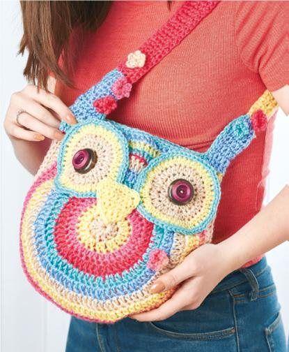 Free Crochet Owl Backpack Pattern : FREE CROCHET PATTERN: owl tote bag Board 2- *I Love ...