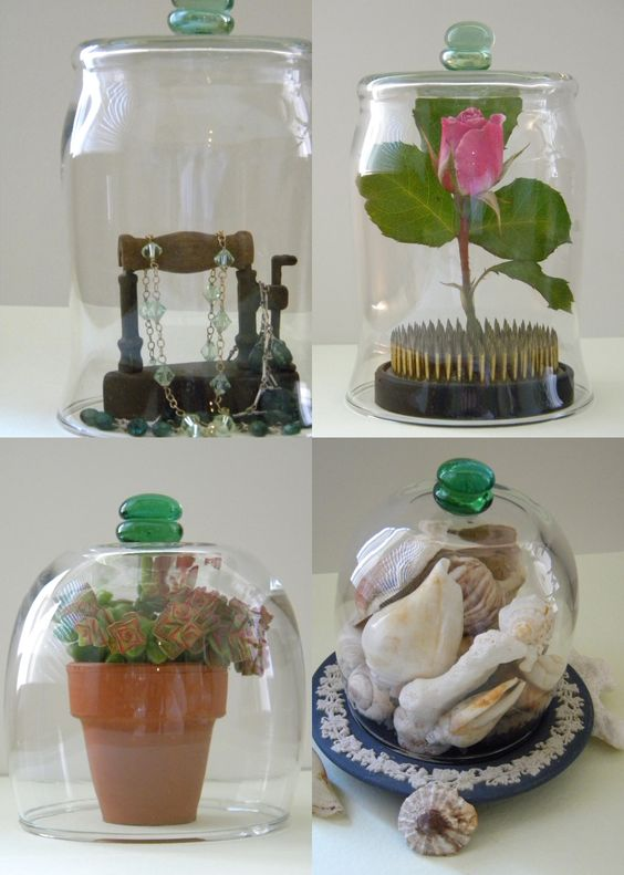 CRAFTS DIY Cloches Use Candle Jars Or Hurricanes