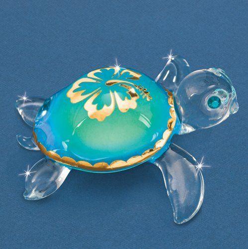 Aloha Sea Turtle Glass Figurine:Amazon:Jewelry