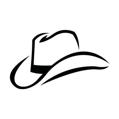 44+ Cowboy hat clipart black and white ideas in 2021