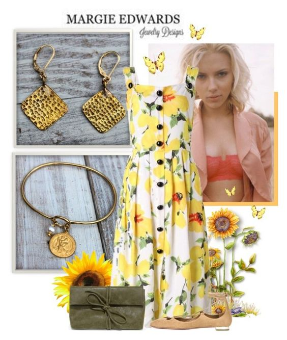 """Margie Edwards Jewelry"" by sierraday ❤ liked on Polyvore featuring Aquazzura and LULUS"