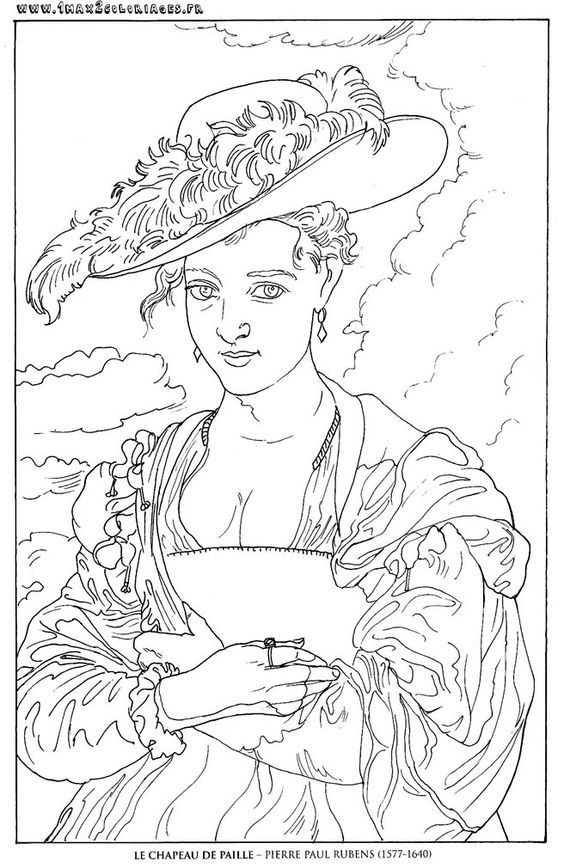 Omeletozeu Famous Art Coloring Coloring Books Coloring Pages