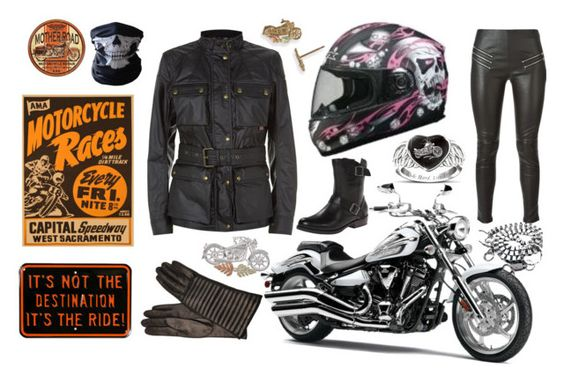 """""""motorbike test day"""" by christine-allan on Polyvore featuring Belstaff, Portolano, Yves Saint Laurent, Harley-Davidson, The Bradford Exchange, motorcycle, ride, motorbike, passed and ridelikeagirl"""