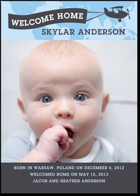 Joyful Flight Stream - Adoption Photo Birth Announcements in Stream