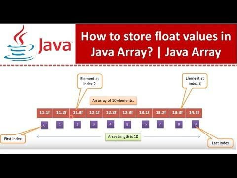 How To Store Float Values In Java Array Java Array Float Values Java Tutorial Youtube In 2020 Java Tutorial Tutorial Java