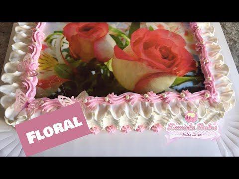 Confeitando Bolo Floral C Papel Arroz Especial Youtube Con