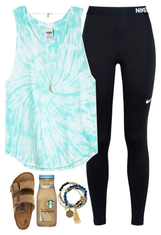 """""""Friendly hacks? {rtd}"""" by daydreammmm ❤ liked on Polyvore featuring NIKE, Birkenstock, Rebecca Minkoff, Lola Rose, Good Charma and Alex and Ani"""