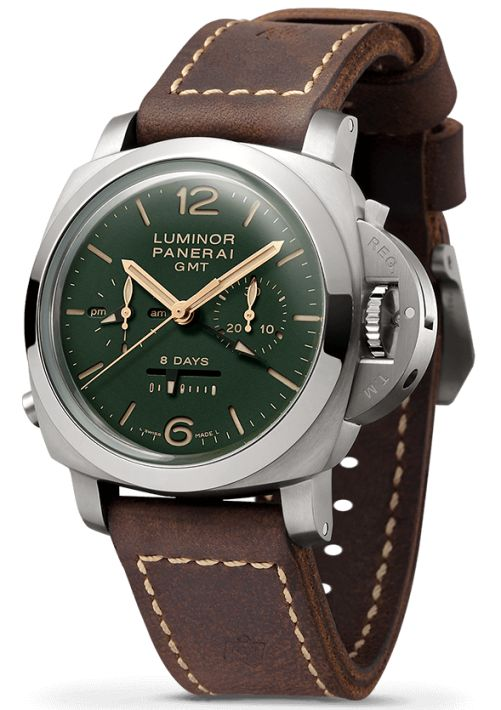 Panerai Luminor 1950 Chrono Monopulsante 8 Days GMT Titanio (PAM00737)