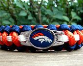 Denver Broncos Team Paracord Bracelet with an Officially Licensed NFL Charm Free Continental US Shipping. $16.50, via Etsy.