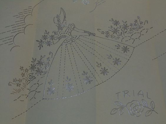 "Vintage Embroidery Pattern Transfers ""Evangeline Linens"" Kate Marchbanks 1950s   eBay"