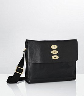 Mulberry Black brynmore messenger bag