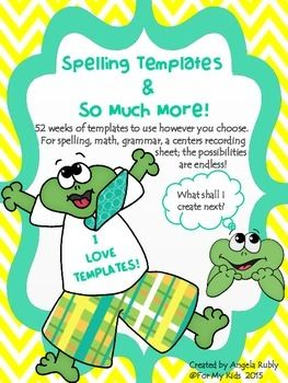 TIRED OF BORING SPELLING TEST PAPERS???Spelling Templates and SO MUCH MORE is EXACTLY what you're looking for :)This product has 52 weeks of themed spelling test templates. Each template is numbered to 16. If your students only take a 12 word list, then they can color the remaining pictures.
