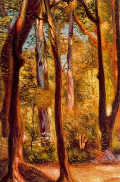 Giorgio de Chirico. Landscape near Cascine.
