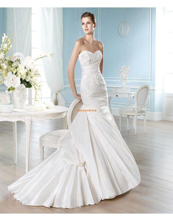 Herz-Ausschnitt Winter Tiefe Taille Designer Brautkleider